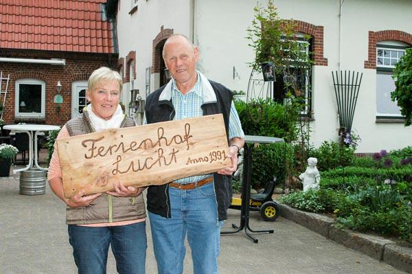 Ilse und Joachim Lucht - Ferien auf dem Bauernhof seit 25 Jahren.